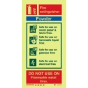 Powder Extinguisher Instructions Rigid