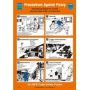 ISM Precautions Against Piracy Poster Vinyl