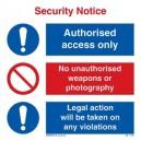 Security Notice Rigid PVC