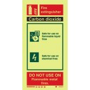 CO2 Fire Extinguisher Instructions Vinyl